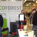 Пеллетный камин EcoForest Atenas привлекал внимание посетителей выставки