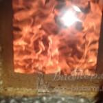 пламя в рабочем режиме в котле