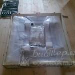 Вставка пеллетного камина EcoForest в упаковке