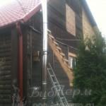 Дом с установленным пеллетным камином EcoForest