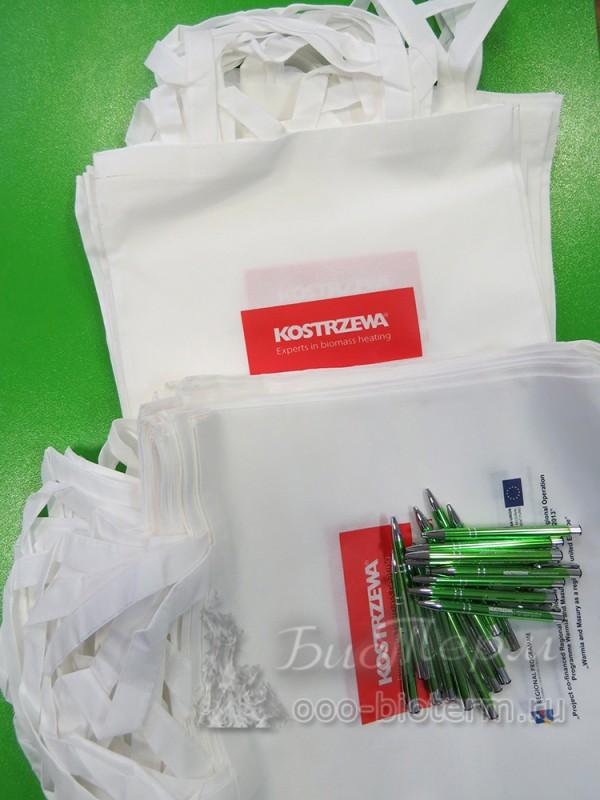 клиентам ГК БиоТерм брендированный пакет и ручка по запросу в подарок