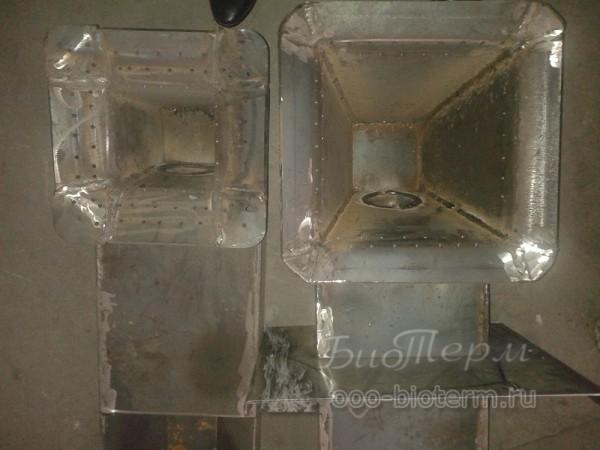 горелки Emtas - слева для пеллетс справа для угля