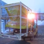 разгрузка котлов на складе в Москве